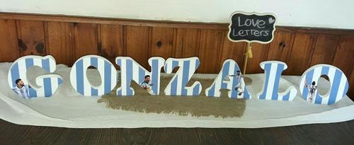 nombres de madera personalizados decoración