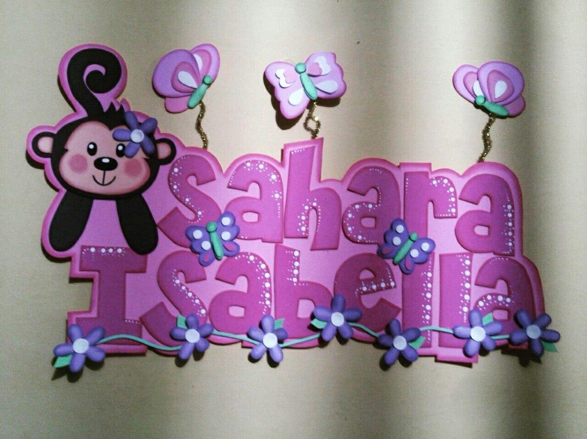 Nombres decorados en foami bs en mercado libre - Letras de nombres para decorar ...