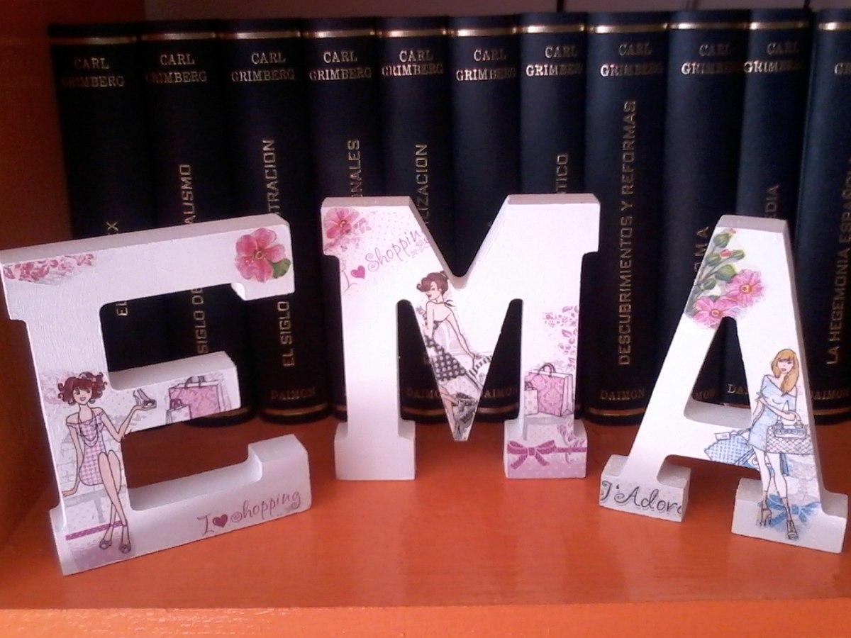 Nombres en letras 3d decoraci n rec mara de ni os y bebes en mercado libre - Letras bebe decoracion ...