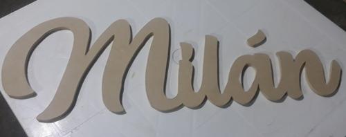 nombres en madera mdf