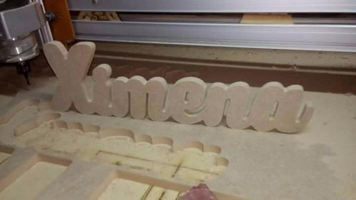 nombres en madera ó mdf para mesas de dulces
