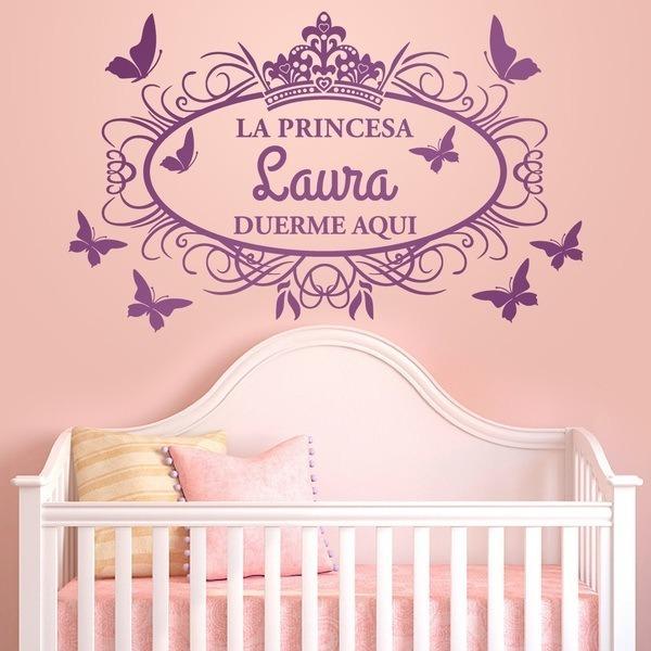 Nombres en vinil para cuartos de bebes ni os y ni as bs for Cuartos decorados para nino y nina