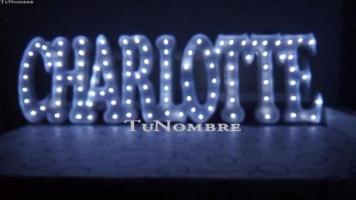 nombres iluminados 12 letras 15 cm polyfan cartel luces luz