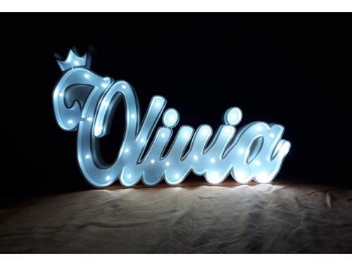 nombres iluminados 12 letras 25 cm - polyfan