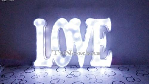nombres iluminados 2 letras numeros de 50cm polyfan  luces