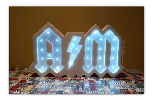 nombres iluminados 3 letras 20 cm tunombre cartel con luces