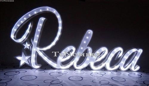 nombres iluminados 3 letras 25 cm - polyfan cartel con luces
