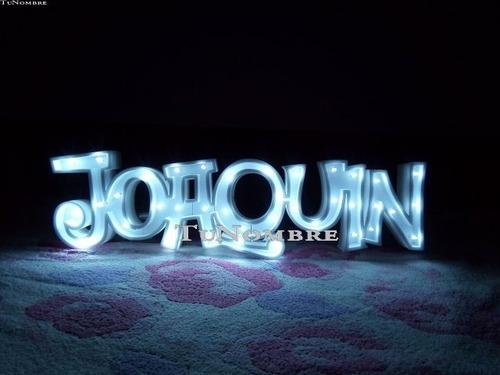 nombres iluminados 4 letras 25 cm - polyfan cartel con luces