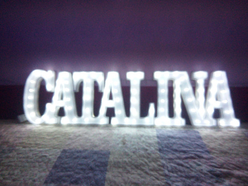 nombres iluminados 4 letras 35 cm polyfan + nro 15 de 35 cm