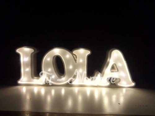 nombres iluminados 4 letras 40 cm polyfan carteles 15 años