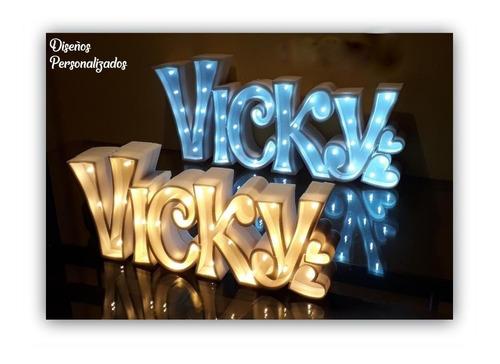 nombres iluminados 5 letras 15 cm polyfan personalizados