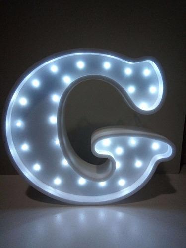nombres iluminados 5 letras 35 cm - polyfan cartel con luces