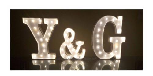nombres iluminados 5 letras 40 cm polyfan belgrano tu nombre