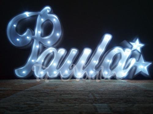 nombres iluminados 5 letras en 20 cm polyfan luz