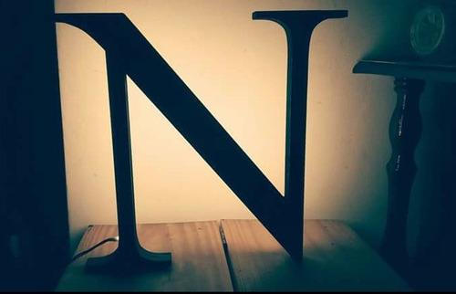 nombres iluminados 6 letras 15 cm - polyfan cartel con luces