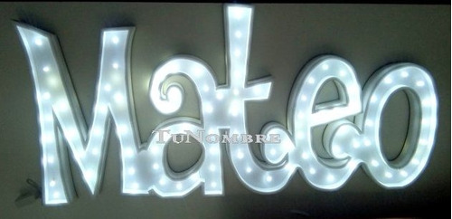 nombres iluminados 6 letras 15 cm polyfan luces tu nombre