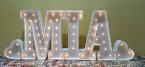 nombres iluminados 6 o más letras tunombre 20 cm polyfan luz