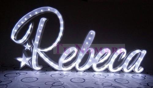 nombres iluminados 7 letras 15cm polyfan cartel c/luz led