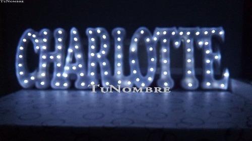 nombres iluminados 7 letras 40 cm - polyfan cartel luces luz