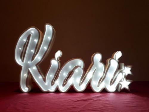 nombres iluminados 7 letras 50 cm polyfan luces tu nombre