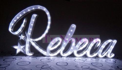 nombres iluminados 7 por 50 cm alto polyfan luces tunombre