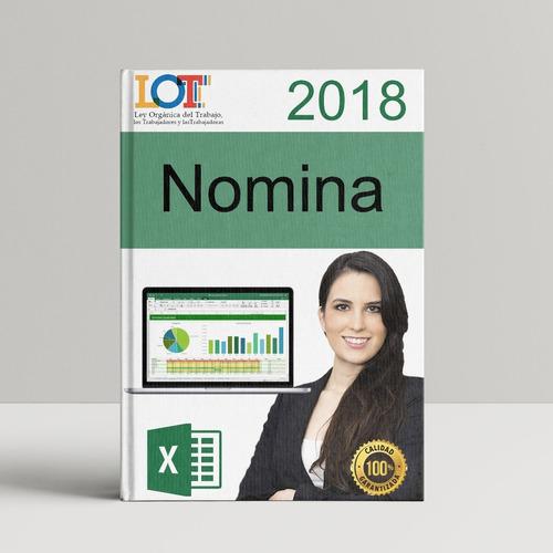 nomina 2020 control recibo de pago lottt plantilla hoj excel