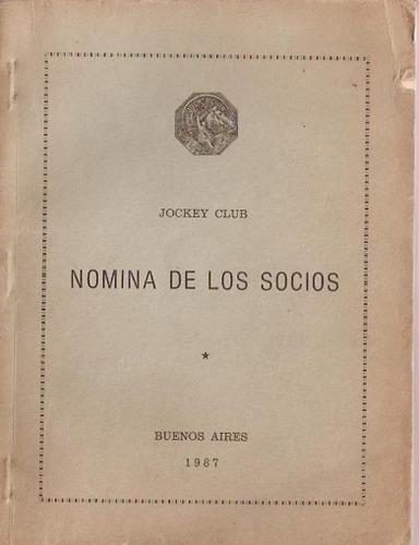 nomina de socios  jockey club  1987