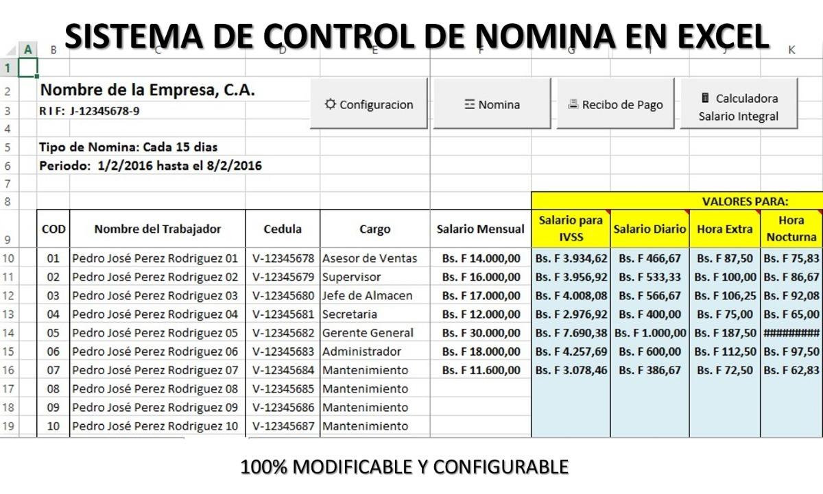 nomina en excel con recibos version 2019   otro gratis