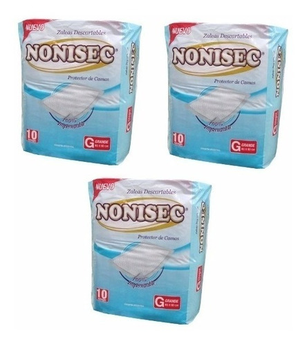 nonisec zaleas descartables 6 packs x 10 unidades - arenita