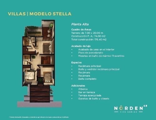 norden 48, temozón norte (villa stella)
