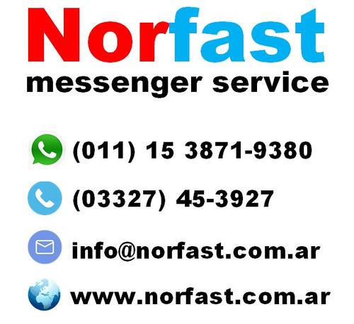 norfast mensajería en moto, delivery, cadetes, fletes,