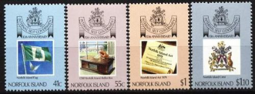 norfolk, ilha 1989 - governo independente (4 selos)