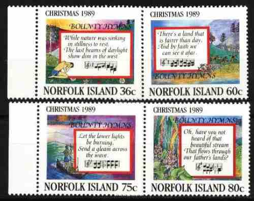 norfolk, ilha 1989 - natal (4 selos)