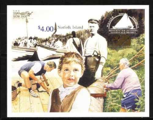 norfolk, ilha 2000 -  exposição filatelica (bloco s/c)