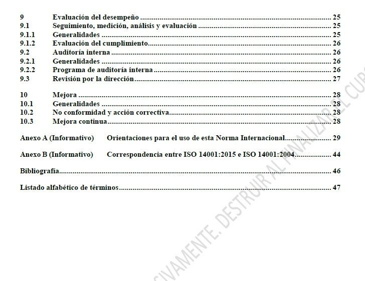 referencia bibliografica norma iso 14001