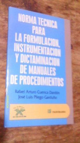 norma tecnica para la formulacion , instrumentacion y dicta