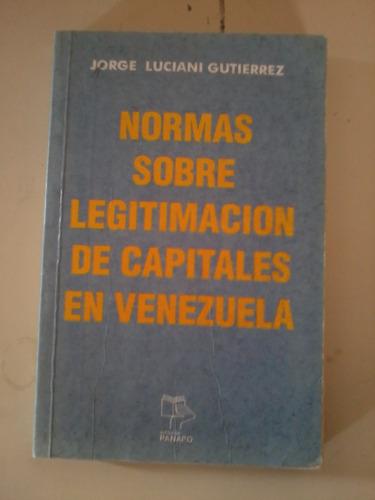normas sobre legitimacion de capitales en venezuela