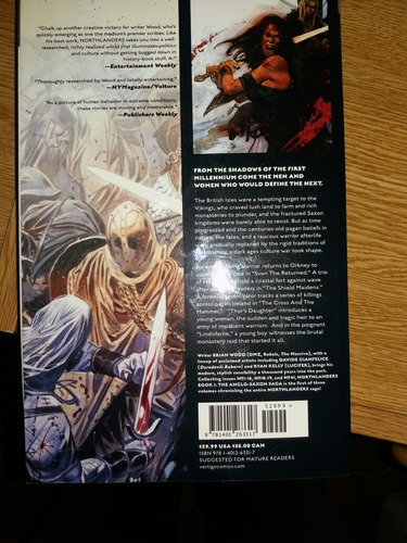 northlanders de brian wood book 1. tpb. en ingles.