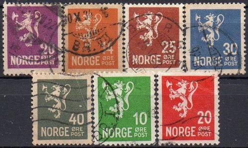 noruega - leão rampante - 1922-1937