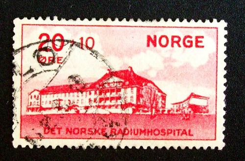 noruega - sello yv. 154 sobrecarga usado l1701