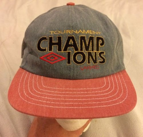 82d243cd375209 Nos Rare Vintage Umbro Tournament Champions Hat Hat Blue ...