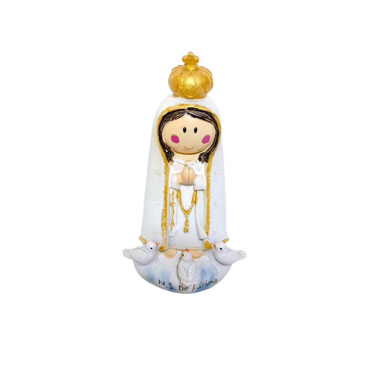 Nossa Senhora De Fatima Desenho 14 5cm Enfeite Resina R 22 61
