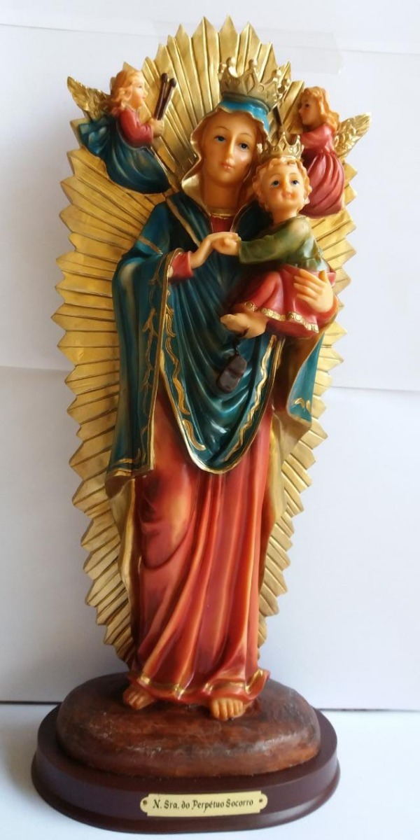 Nossa Senhora Do Perpétuo Socorro 40 Cm Italiana By Italy - R  372 ... 7e4013e40a814