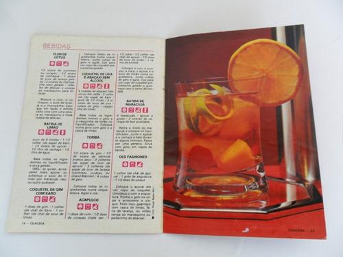 nossas receitas nº 255 d2 cláudia cozinha bebidas e salgados