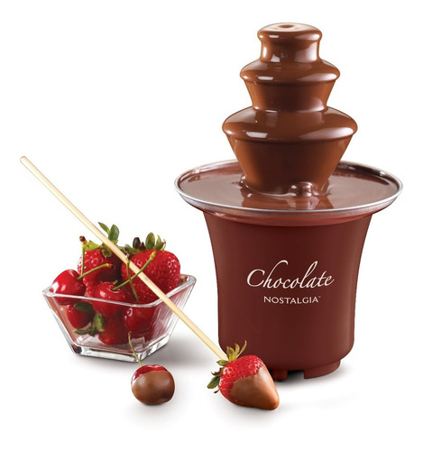 nostalgia cff300 fuente de fondue de chocolate de 3 niveles
