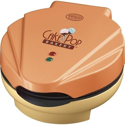 nostalgia-electricidad-donut hole-maker-naranja-crema