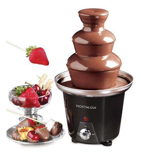 nostalgia fuente de chocolate cff965 fondue fountain 3-tier