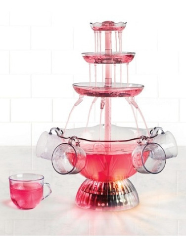 nostalgia lpf150 fuente de bebidas iluminada electrica