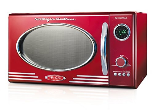 nostalgia rmo400red horno microondas retro display led