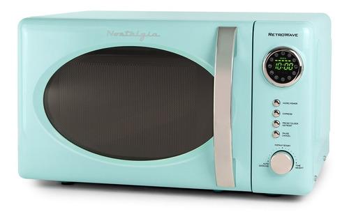nostalgia rmo7aq horno microondas retro 700 watts